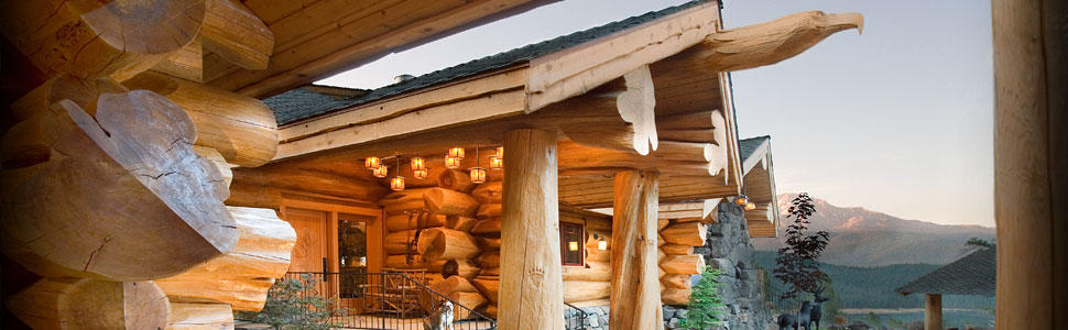 custom carved cabin features